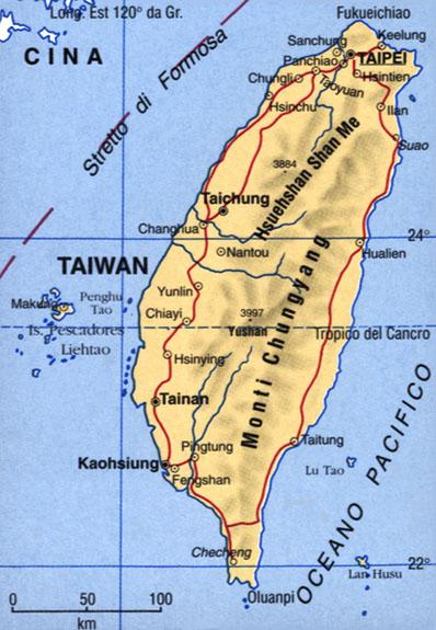Cartina del Taiwan