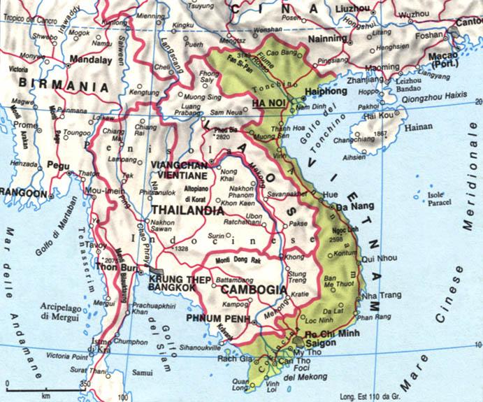 Cartina del Vietnam