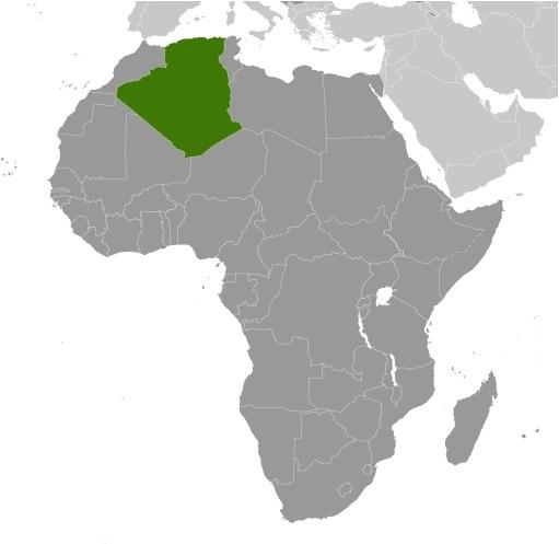Cartina del luogo Algeria