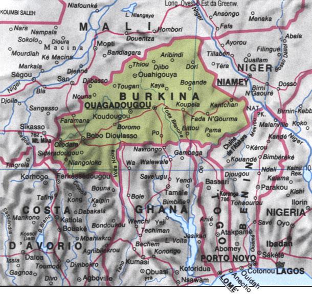 Cartina del Burkina Faso