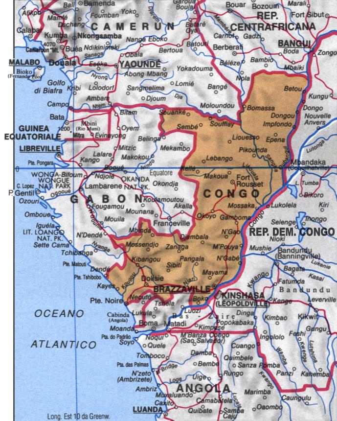 Cartina del Congo