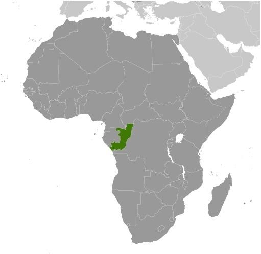 Cartina dell'Africa Repubblica del Congo