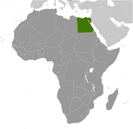 Mappa dell'Egitto in Africa