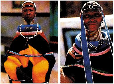 Costumi della tribù Ndebele, in Sudafrica
