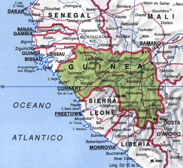 Cartina della Guinea