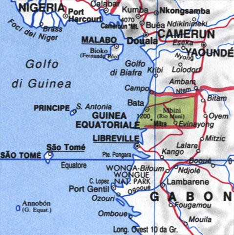 Cartina Guinea Equatoriale