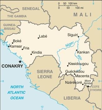 Mappa della Guinea