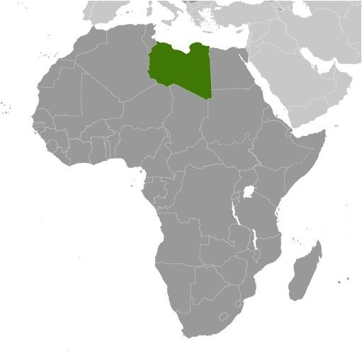 Libia mappa del luogo