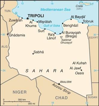 Cartina della Libia