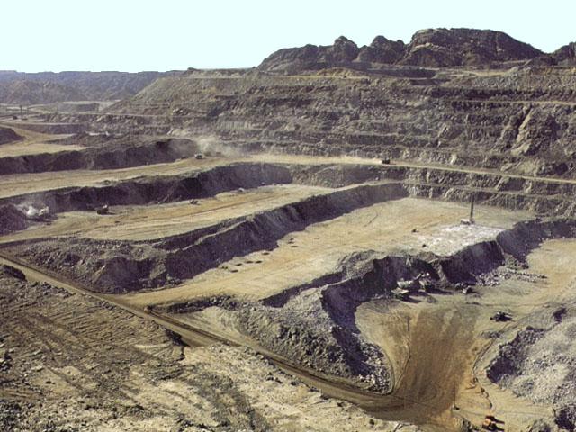 Miniera d'uranio a cielo aperto nei pressi di Rossing, in Namibia