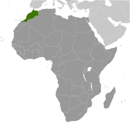 Cartina luogo del Marocco
