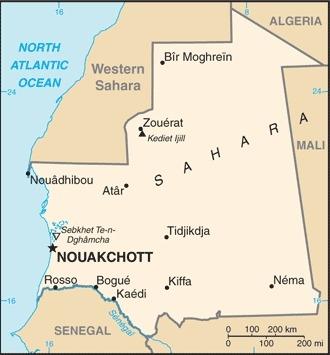 Mappa Mauritania