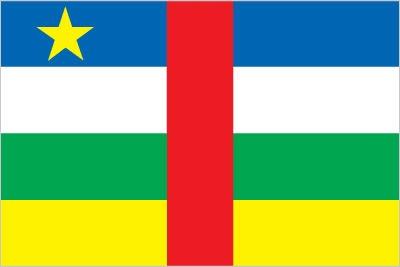 Central African Republic Flag Bandiera della Repubblica Centrafricana