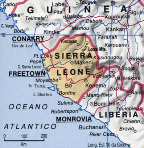 CArtina della Sierra Leone