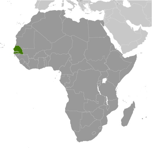 Posizione in Africa del Senegal