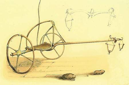 Carro rinvenuto in una tomba tebana I. Rossellini Monumenti dell'Egitto e della Nubia 1834