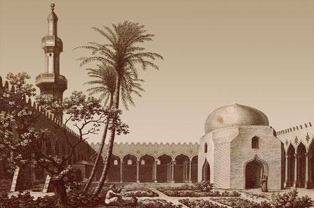 Alessandria, Basilica di Sant'Atanasio IV sec. d.C. trasformata in moschea Description de l'Egypte 1809
