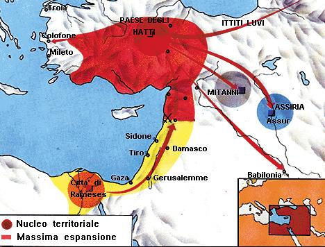 Gli spostamenti migratori degli Hittiti