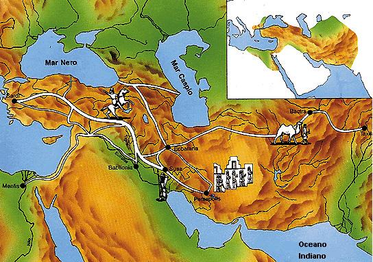 Le principali città dll'Impero persiano