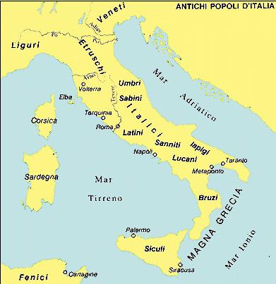 I primi stanziamenti in Italia