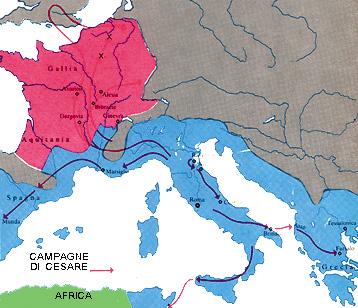 Le campagne militari e le conquiste di Giulio Cesare