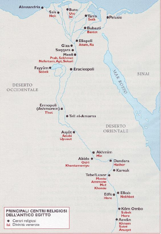 Antico Egitto Principali centri religiosi