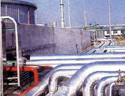 Una raffineria di petrolio