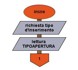 Flow chart Inserimento dati