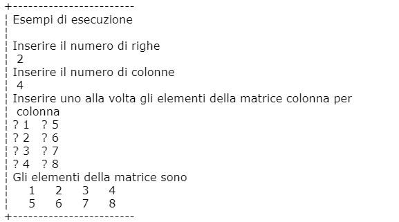 Matrici esempi