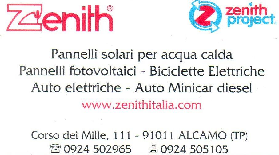 Zenith Alcamo Pannelli Solari Fotovoltaici Biciclette e Mini Auto Elettriche