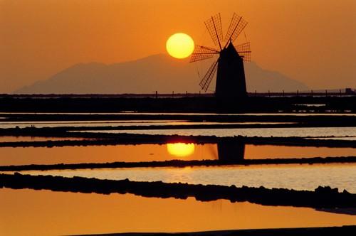Saline di Trapani al tramonto
