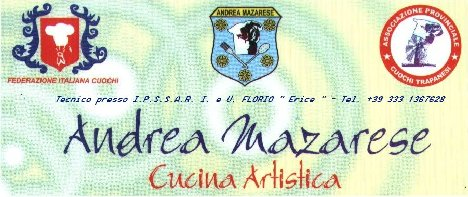 Andrea Mazarese Chef Tecnico servizi di Culinaria