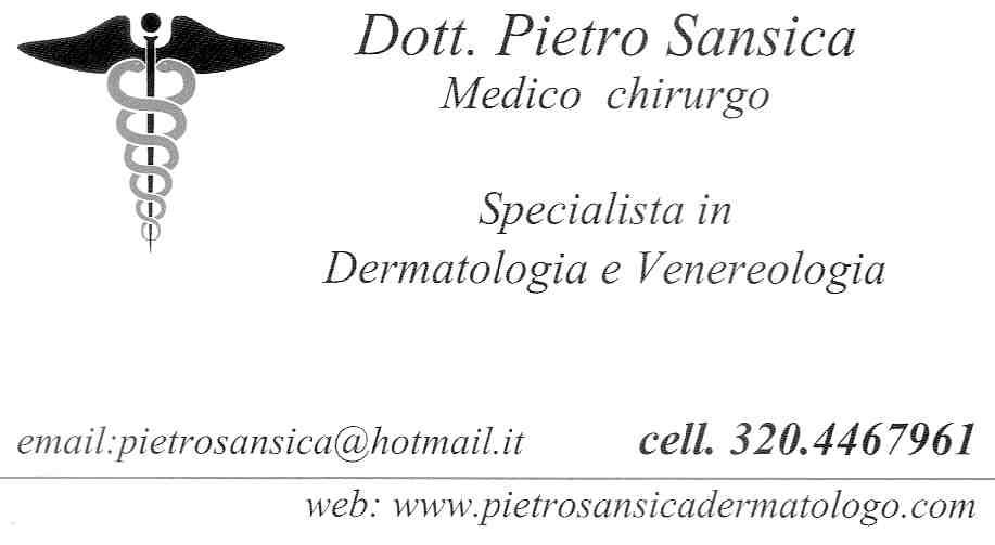 Dottore Pietro Sansica Medico Chirurgo Specialista in Dermatologia e Venereologia